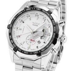 ซื้อ ผู้ชายอัตโนมัติเชิงกลวันที่สแตนเลสสตีลธุรกิจนาฬิกาข้อมือ Pmw104 นาฬิกาข้อมือผู้ชายสายสแตนเลสรุ่น นานาชาติ ถูก
