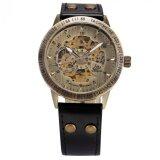 ซื้อ Men Automatic Mechanical Watch Skeleton Vintage Bronze Case Black Leather Strap Pmw364 นาฬิกาข้อมือชาย แฟชั่น สปอร์ต เท่ Intl ถูก Thailand