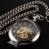 ขาย ซื้อ Men Classic Magnifier Skeleton Mechanical Gift Business Fashion Pocket Watch Wpk023 นาฬิกาข้อมือ ชายและหญิง Intl