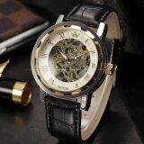 ขาย Men Classic Roman Hand Winding Mechanical Hollow Skeleton Transparent Business Wrist Watch Pmw297 นาฬิกาข้อมือชาย แฟชั่น สปอร์ต เท่ Intl ราคาถูกที่สุด