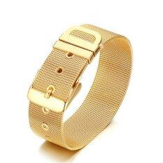 ขาย Men Fashion Cool 24K Gold Plated Bracelet Intl ออนไลน์