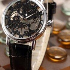 ขาย Men Mechanical Wrist Watch Skeleton Hand Wind Up Roman Leather Strap Pmw356 นาฬิกาข้อมือชาย แฟชั่น สปอร์ต เท่ Intl ถูก ใน Thailand