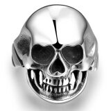 Men Retro Punk Skull Design Unique Style Ring Stainless Steel Fashion Jewelry Strong Personality Male Finger Ring Size 11 จีน