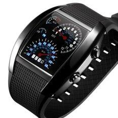 ขาย ซื้อ Led นาฬิกาดิจิตอลนาฬิกาคนกีฬาแข่งรถความเร็วจังหวะของคนกดนาฬิกาข้อมือผู้ชายทหารรัดซิลิโคน Relogio Masculino สีดำ