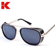 ชายสแควร์แว่นตากันแดดออกแบบแบรนด์แว่นตากันแดด Vintage Retro แฟชั่นแว่นตา Uv400 เป็นต้นฉบับ