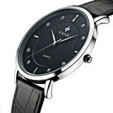 ขาย ซื้อ Men Watches New Luxury Brand Ultra Thin Full Genuine Leather Clock Male 50M Waterproof Casual Sport Watch Men Wrist Quartz Watch Intl จีน