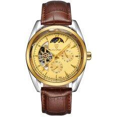 ราคา ผู้ชายนาฬิกากันน้ำอัตโนมัติเชิงกลนาฬิกาแบรนด์หรู Tevise หนังสายนาฬิกา Relogio Masculino อัตโนมัติชาย นานาชาติ Tevise ใหม่