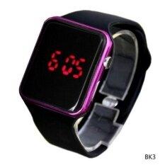 ผู้ชายแฟชั่นสำหรับผู้หญิง Led อิเล็กทรอนิกส์แบบดิจิทัลนาฬิกาข้อมือ Black2 - Intl.