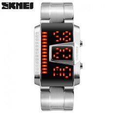 ราคา โลหะผสมสังกะสีนาฬิกากันน้ำกีฬา Men Zinc Alloy Led Waterproof Sport Watches Silver Intl Skmei ออนไลน์