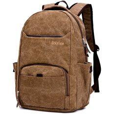 ซื้อ Men S Bags กระเป๋าเป้สะพายหลัง กระเป๋าเดินทาง กระเป๋าเป้ Backpack กระเป๋าโน๊ตบุ๊คและแท็บเล็ต 12X16 นิ้ว กระเป๋าแฟชั่นผ้าแคนวาส สีน้ำตาล ถูก กรุงเทพมหานคร