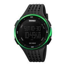 ซื้อ Men S Big Dial Multifunctional Waterproof Sports Digital Watch Green ออนไลน์