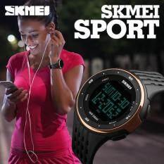 ชายร่างใหญ่หมุนนาฬิกาดิจิตอลมัลติฟังก์ชั่นกีฬากันน้ำกุหลาบทอง Skmei ถูก ใน จีน