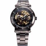 ราคา Men S Classic Skeleton Gunmetal Stainless Steel Automatic Mechanical Sport Watch Pmw210 นาฬิกาข้อมือผู้ชาย สายสแตนเลส รุ่น Intl Unbranded Generic เป็นต้นฉบับ