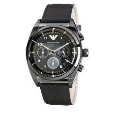 ขาย Men S Emporio Armani Chronograph Leather Band Watch Ar0393 เป็นต้นฉบับ