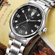 ส่วนลด สินค้า นาฬิกาแฟชั่นผู้ชายอัตโนมัติกันน้ำกลวงธุรกิจ นาฬิกาข้อมือ Black Dial