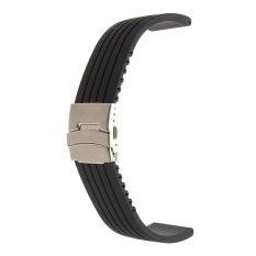 ขาย Mens Silicone Rubber Watch Strap Band Waterproof Deployment Clasp 18Mm Unbranded Generic