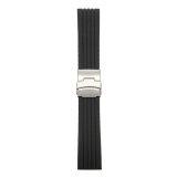 ซื้อ Mens Silicone Rubber Watch Strap Band Waterproof Deployment Clasp 20 Mm จีน