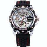 ราคา ผู้ชาย Skeleton อัตโนมัติเชิงกลสีดำซิลิโคนนาฬิกาข้อมือกีฬา Pmw082 นาฬิกาข้อมือชายแฟชั่นสปอร์ตเท่ นานาชาติ เป็นต้นฉบับ Unbranded Generic