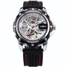 ราคา ผู้ชาย Skeleton อัตโนมัติเชิงกลสีดำซิลิโคนนาฬิกาข้อมือกีฬา Pmw082 นาฬิกาข้อมือชายแฟชั่นสปอร์ตเท่ นานาชาติ ใน จีน