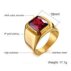 ขาย ซื้อ ผู้ชายแต่งงานแหวนทับทิมสายสเตนเลสทอง สมุทรปราการ