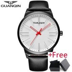 ราคา Mens Watch นาฬิกาข้อมือ Es Top Brand Luxury Guanqin Simple Design Leather Strap Quartz Watch นาฬิกาข้อมือ Men Creative Casual Wristwatch นาฬิกาข้อมือ Gs19073 ถูก