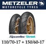 ราคา Metzeler Sportec Street ขนาด 110 70 17 150 60 17 Ninja300 Z300 R3 Mt03 Cbr300 Cb300 Tnt300 ยางนอกมอเตอไซค์ Metzeler เป็นต้นฉบับ