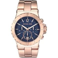 Michael Kors นาฬิกาผู้ชาย Bel Air Chronograph Blue Dial รุ่น Mk5410 Gold เป็นต้นฉบับ