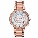 นาฬิกาข้อมือผู้หญิง Michael Kors Crystal Chronograph เป็นต้นฉบับ
