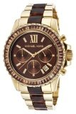ราคา Michael Kors Glitz And Glamour Chronograph Ladies Watch Stainless Strap Mk5873 Gold Brown Michael Kors