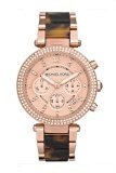 ขาย Michael Kors Ladies Parker Chronograph Stainless Strap Watch Mk5538 Pink Gold เป็นต้นฉบับ
