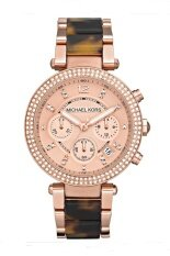 ราคา Michael Kors Ladies Parker Chronograph Stainless Strap Watch Mk5538 Pink Gold Michael Kors ออนไลน์