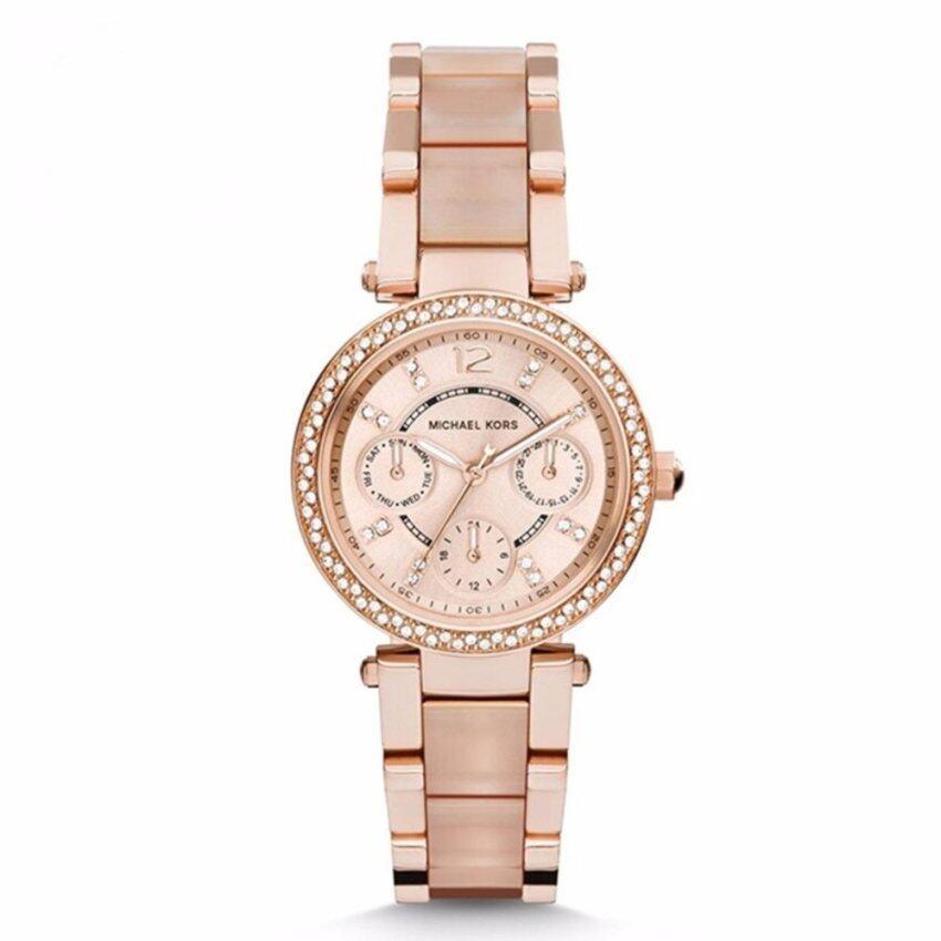13294e67e67c Michael Kors Ladies Two-Tone Rose Gold Chronograph Date Watch MK5820