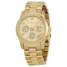 โปรโมชั่น Michael Kors นาฬิกาผู้หญิง สีทอง สายแสตนเลส รุ่น Mk5055
