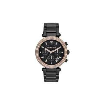 นาฬิกาข้อมือผู้หญิง Michael Kors Parker Chronograph Black Dial Ladies Watch MK5885