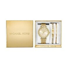 โปรโมชั่น Michael Kors Women S Mini Darci Gold Tone Stainless Steel Bracelet Watch Gift Set 33Mm Mk3430 ใน กรุงเทพมหานคร