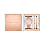 ซื้อ Michael Kors Women S Mini Darci Rose Gold Tone Stainless Steel Bracelet Watch Gift Set 33Mm Mk3431 ออนไลน์