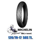 Michelin ยางนอกมอเตอร์ไซด์ 120 70 17 Tl รุ่น Pilot Street ใหม่ล่าสุด