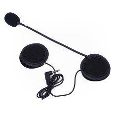 ขาย ซื้อ Microphone Speaker Soft Cable Headset Accessory For Motorcycle Helmet Bluetooth Interphone Intercom Black Intl