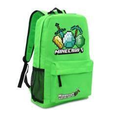 ทบทวน Minecraft Backpack Zipper Travel Bags Book Bag Sch**l Students Pack Bag Blue Intl Unbranded Generic