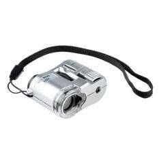 Mini 60X ซูม Led กล้องจุลทรรศน์พ็อกเก็ตเงิน สกุลเงิน ตรวจจับ Unbranded Generic ถูก ใน จีน