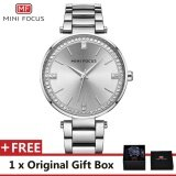 Mini Focus Top Luxury Brand Watch Famous Fashion Dress Cool Women Quartz Watches Calendar Waterproof Stainless Steel Wristwatch For Female Mf0031L Intl ถูก
