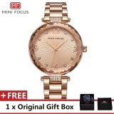Mini Focus Top Luxury Brand Watch Famous Fashion Dress Cool Women Quartz Watches Calendar Waterproof Stainless Steel Wristwatch For Female Mf0038L Intl เป็นต้นฉบับ