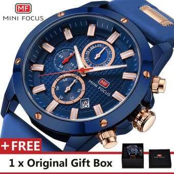 MINIFOCUS MINI FOCUS MF0089G สุดหรูนาฬิกาข้อมือมียี่ห้อสำหรับ Man แฟชั่นผู้ชายกีฬานาฬิกาควอตซ์ TREND นาฬิกาข้อมือสำหรับชาย Jam Tangan lelaki