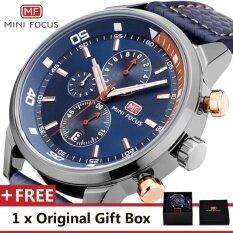 ซื้อ Mini Focus Top Luxury Brand Watch Famous Fashion Sports Cool Men Quartz Watches Calendar Waterproof Leather Wristwatch For Male Mf0017G Intl ใน จีน