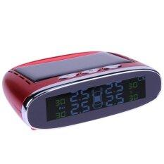 ซื้อ Mini Portable Solar Power Tpms Tire Pressure Monitoring System With Lcd Red Intl ออนไลน์ ถูก