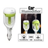 ซื้อ Mini Touch Type Rotating Spray Car Aroma Humidifier Anion Airpurifier สีเขียวอ่อน Green Best 4 U ถูก