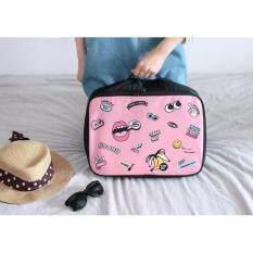 ราคา Mini Travel Luggage กระเป๋าเสริมสำหรับเดินทางขนาดพกพา สีชมพู Tm กรุงเทพมหานคร