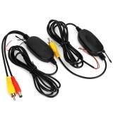 Minicar 2 4 กรัมเครื่องส่งสัญญาณภาพสีไร้สายรับชุดสำหรับรถดีวีดีจอภาพมุมมองด้านหลังกล้องสำรองข้อมูลย้อนกลับสีดำ สี สีดำ นานาชาติ ถูก