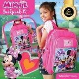 Minnie Mouse กระเป๋าเป้นักเรียน ขนาด15 ลิขสิทธิ์แท้จาก Disney รุ่น62149 เป็นต้นฉบับ