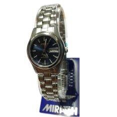 ทบทวน Miragh นาฬิกาข้อมือหญิง สายสแตนเลสหน้าปัด โทนน้ำเงินเข้ม มีวันที่ สัปดาห์ รุ่น L8101Wd Bu น้ำเงินเข้ม Miragh